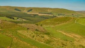 Мирный ландшафт welsh около Cwmystwyth, Великобритании Стоковые Фотографии RF