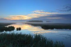 Мирный рассвет Стоковая Фотография