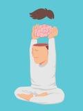 Мирный человек принимает его мозг Стоковые Фотографии RF