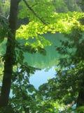 Мирным озеро покрашенное изумрудом Стоковое Изображение