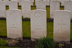 Мировая война Фландрия воинского кладбища 1-ая Стоковое Изображение RF