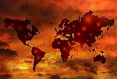 Мировая война иллюстрация вектора