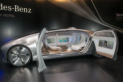 Мировая премьера концепции f 015 Мерседес-Benz автомобильная Стоковые Фото