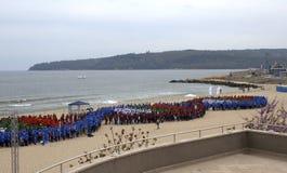 Мировой рекорд Гиннесса установленный в Варну Болгарию стоковая фотография