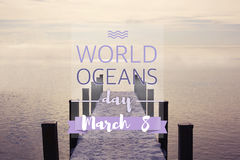 Мировые океаны день, 8-ое июня Стоковая Фотография RF