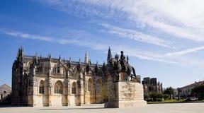 1386 1517 миров unesco места Португалии скита leiria наследия estremadura заречья строения batalha Статуя Nuno Alvares Pereira Стоковое Изображение