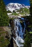 Миртл падает на Mount Rainier, Вашингтон. Стоковое фото RF