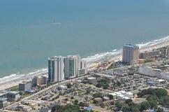 мирт береговой линии пляжа Стоковые Фотографии RF