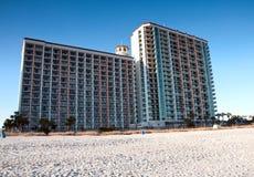 мирт гостиниц пляжа стоковое изображение rf