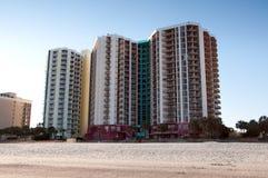 мирт гостиниц пляжа стоковые изображения rf