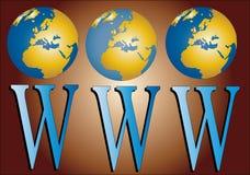 миры www Иллюстрация штока