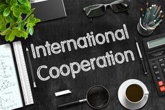 мир лабиринта сотрудничества принципиальной схемы международный 3d представляют Стоковая Фотография