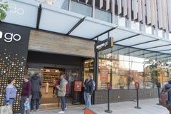 Мир Амазонки размещает штаб вход магазина выхода Стоковое Изображение
