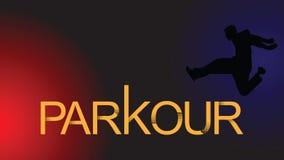 мир вектора искусства светлый Parkour человек Перескакивание вперед иллюстрация штока