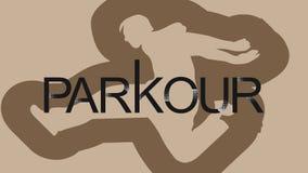 мир вектора искусства светлый Parkour человек Перескакивание вперед иллюстрация вектора