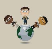мир вектора иллюстрации детей бесплатная иллюстрация