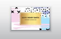 мир вектора карты Кода визитной карточки предпосылки бинарный Роскошный дизайн визитной карточки Стоковые Изображения RF