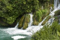 мир водопада skradinski buk известный Стоковые Фото