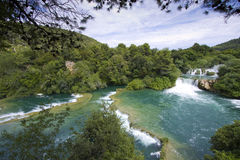 мир водопада skradinski buk известный Стоковые Фотографии RF