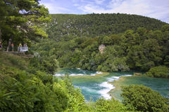мир водопада skradinski buk известный Стоковое Изображение RF