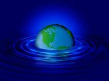 мир воды пульсации Стоковые Фотографии RF