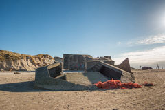 мир войны Северного моря городища свободного полета дзота 2 пляжей датский Стоковые Изображения