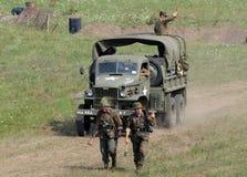 мир войны reenactment сражения ii Стоковые Фотографии RF
