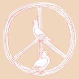 мир во всем мире глобуса dove дня вихруны Стоковое фото RF