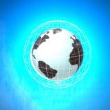 Мир в сети над голубой предпосылкой Стоковые Изображения RF