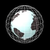 Мир в сети над черной предпосылкой Стоковое фото RF