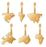 Мир гитары Стоковые Фотографии RF