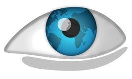 мир глаза Стоковое фото RF