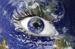 мир глаза Стоковые Изображения