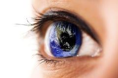 мир глаза Стоковая Фотография RF