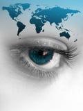 мир глаза Стоковое Фото