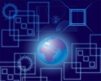 Мир глобальной связи и блеска Стоковое Фото