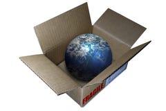 мир глобуса коробки Стоковые Изображения RF