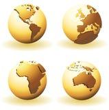 мир глобусов иллюстрация вектора