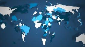 Мир голубой и белый бесплатная иллюстрация