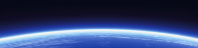 мир горизонта знамени Стоковое Изображение RF
