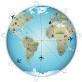 мир города самолета Стоковые Изображения