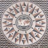мир городка карты компаса розовый квадратный Стоковые Фотографии RF