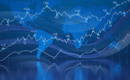 мир диаграммы абстрактного голубого дела цифровой иллюстрация штока