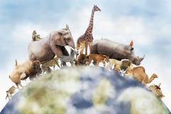Мир диких животных иллюстрация штока