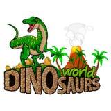 Мир динозавров логотипа иллюстрация вектора