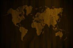 мир древесины карты предпосылки Стоковое Изображение