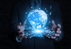 Мир дела владением бизнесмена Стоковая Фотография RF