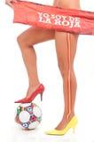 мир женщины ног футбола чашки испанский sudafric Стоковое Изображение