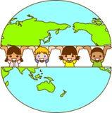 мир земли s детей Стоковые Фотографии RF