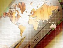 мир иллюстрации дела 3d изолированный изображением иллюстрация вектора